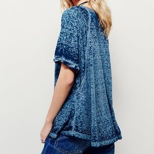Free People *green* burnout tee